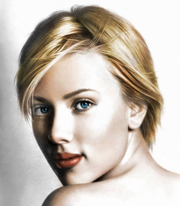 color pencil drawing scarlett johansson by musa celik
