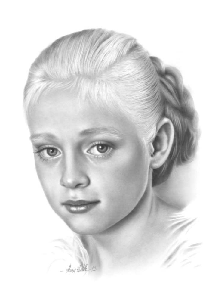 portrait pencil drawing young woman by musa celik