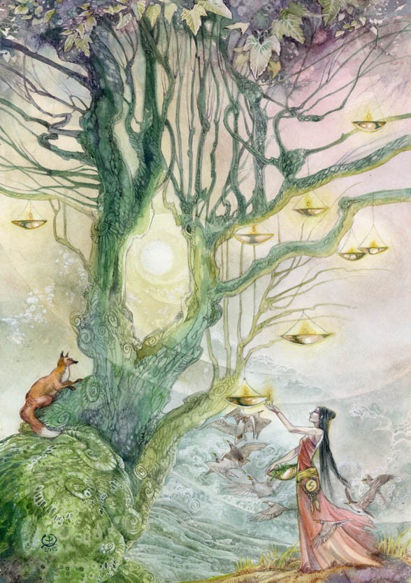surreal watercolor painting sowelo by puimun law