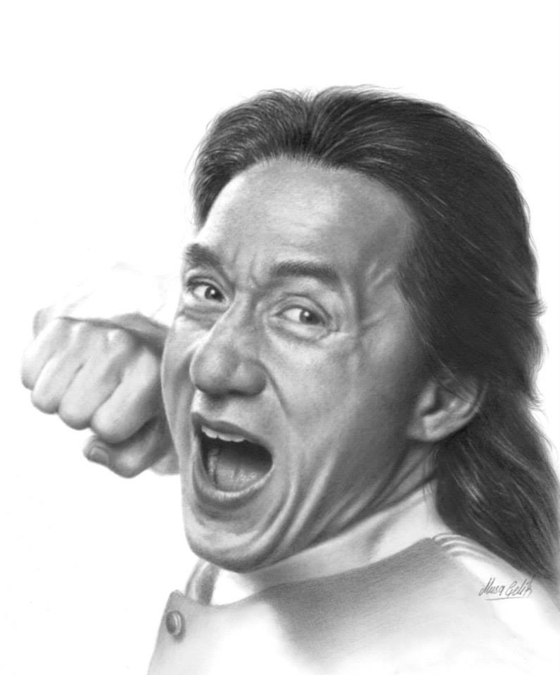 portrait pencil drawing jackie by musa celik