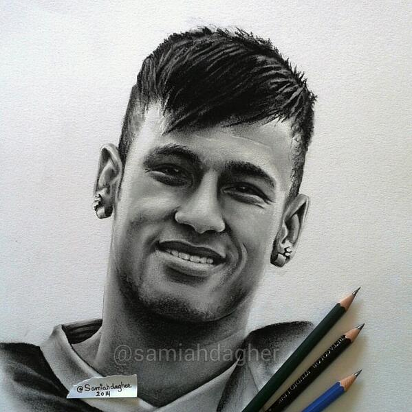pencil drawing neymar by samia h dager