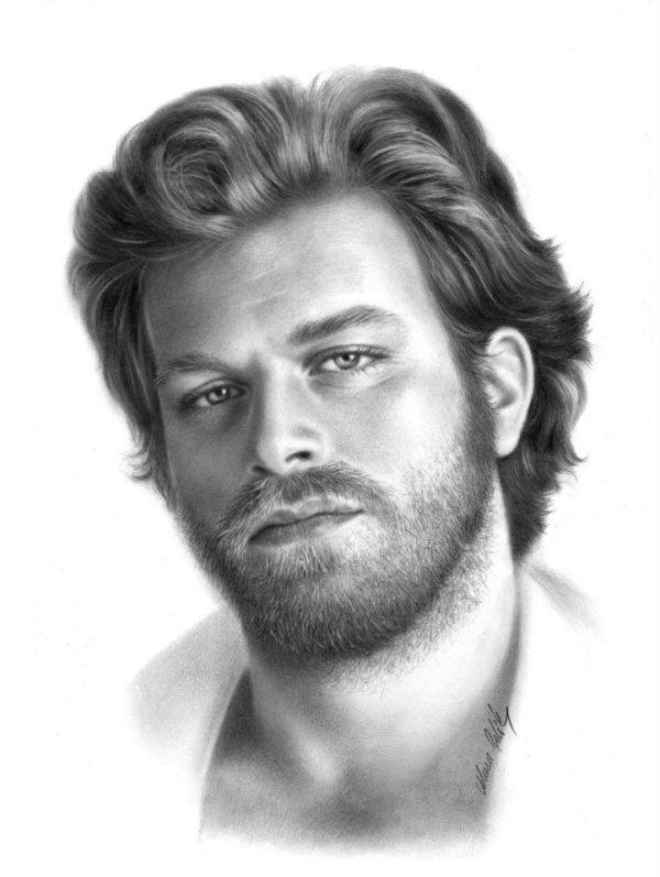 portrait pencil drawing man by musa celik