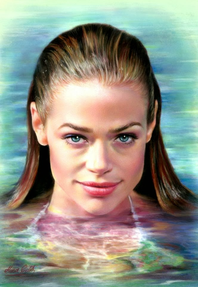 2 color pencil drawing denise richards