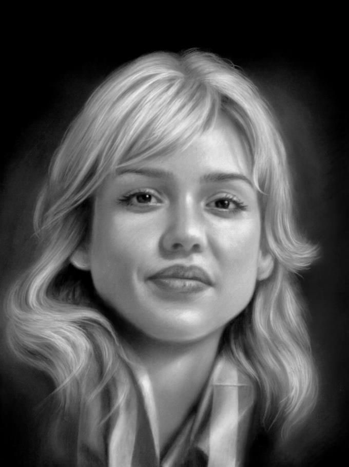 pencil drawing jessica alba by musa celik