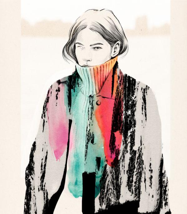 painting portrait woman by esra roise