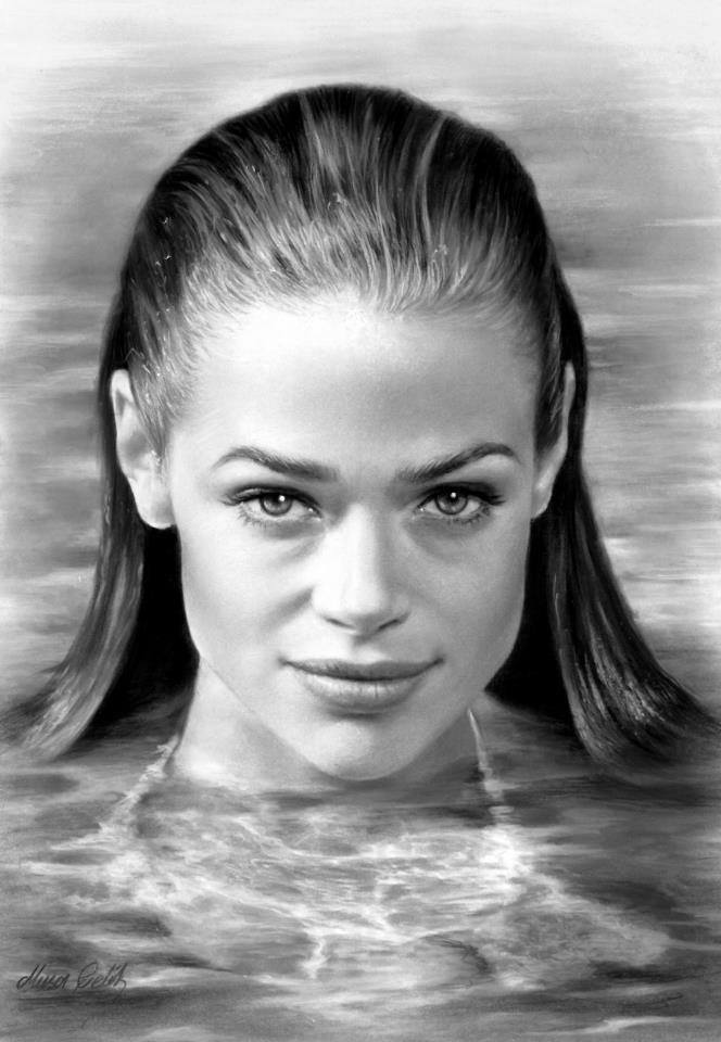 pencil drawing denise richards by musa celik