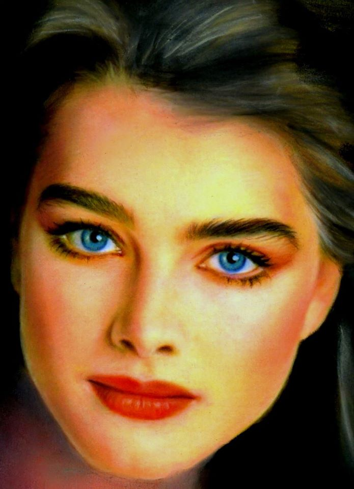 color pencil drawing brooke shields by musa celik