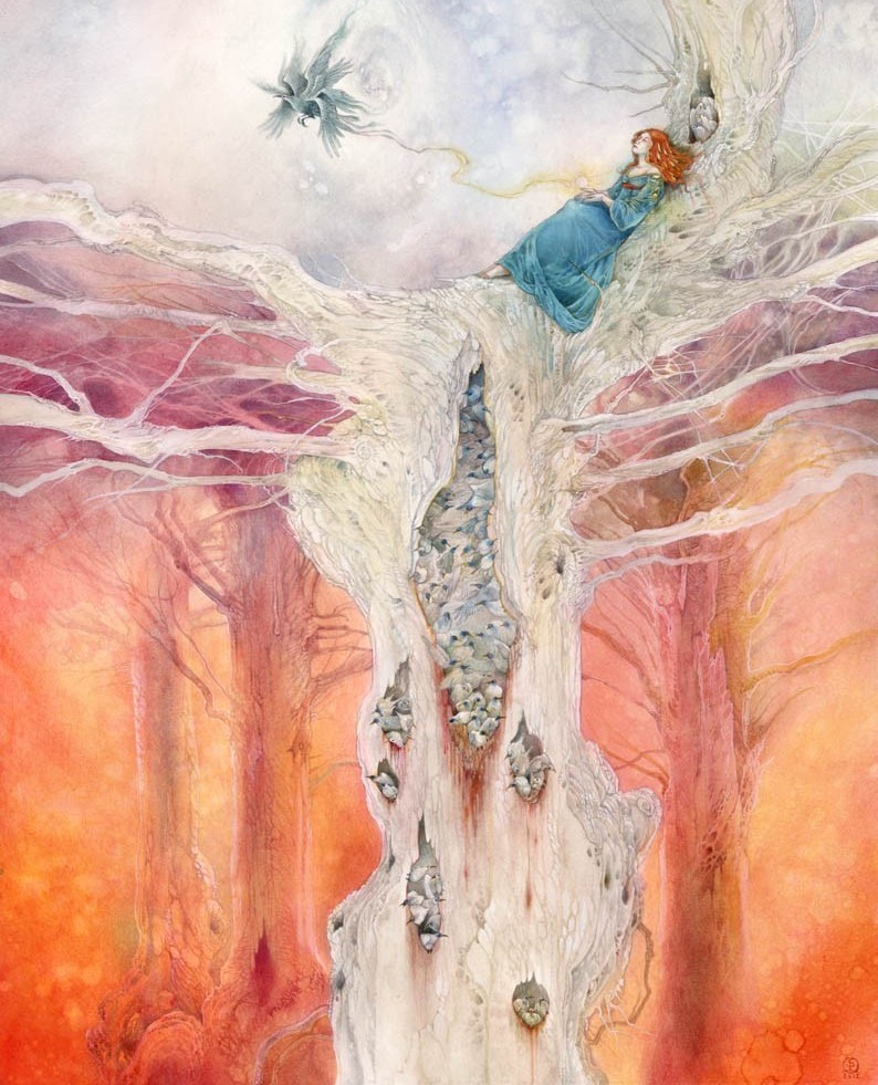 surreal watercolor painting still sllent places by puimun law