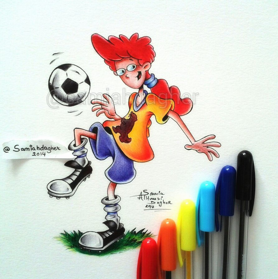 pen drawing pepper ann by samia h dager