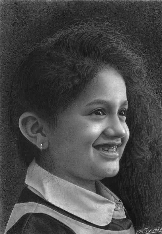 10 pencil drawings by sadashiv atmaram sawant