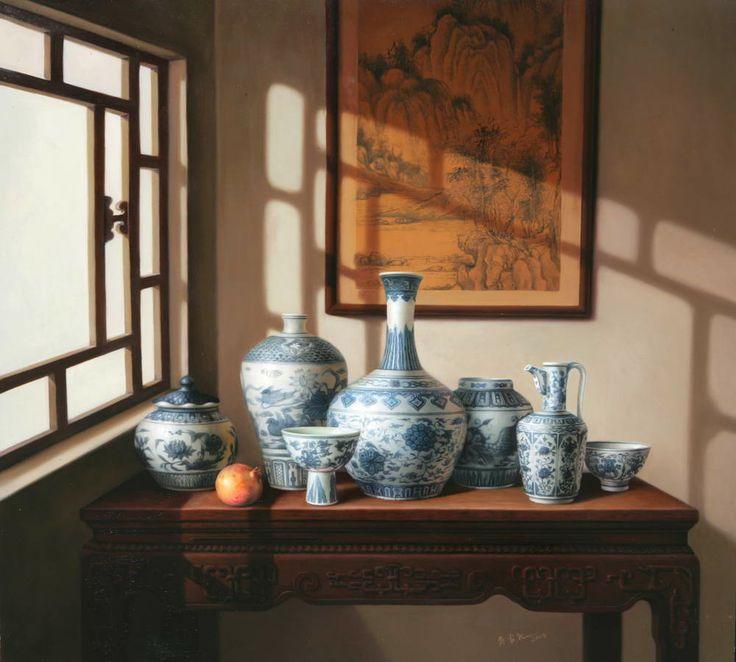 18 oil paintings by wu jiali