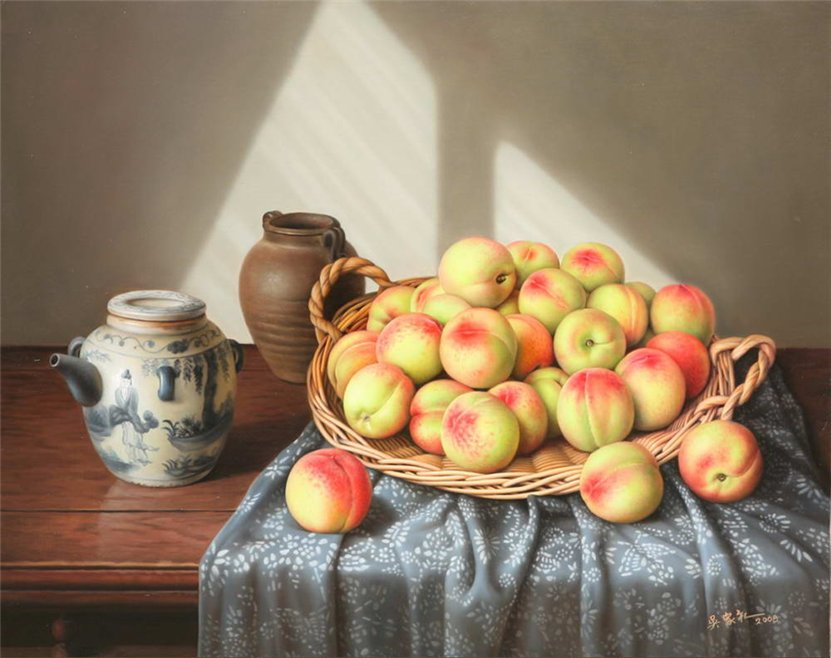 8 oil paintings by wu jiali