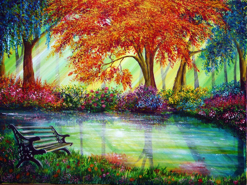 river colorful nature paintings by ann marie bone
