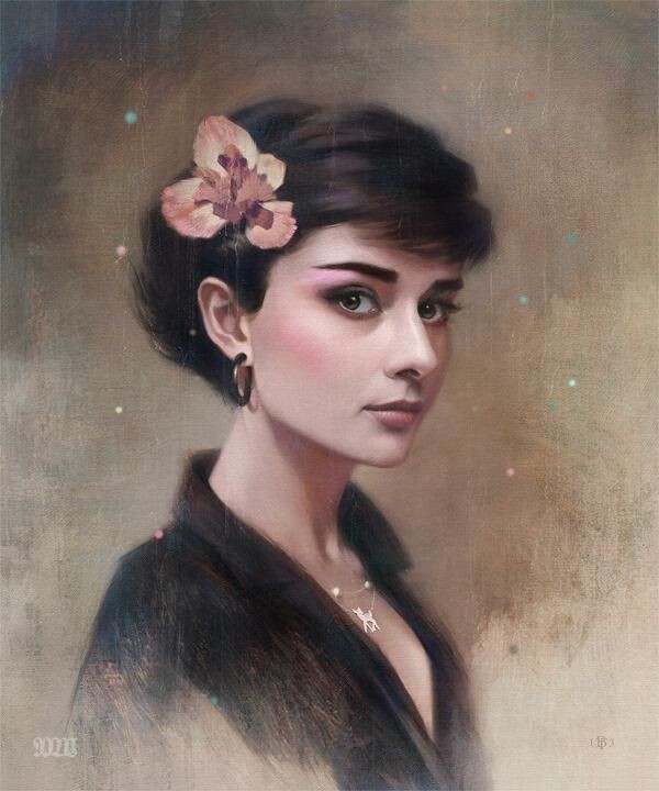 1 woman realistic paintings by tom bagshaw