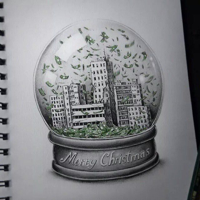 merry chrismas creative drawings by pez