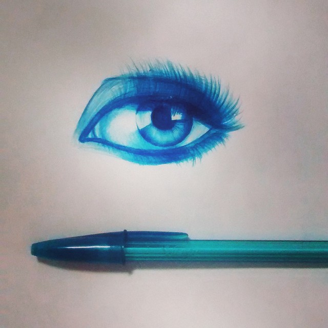 12 eyes drawing by gelson fonteles