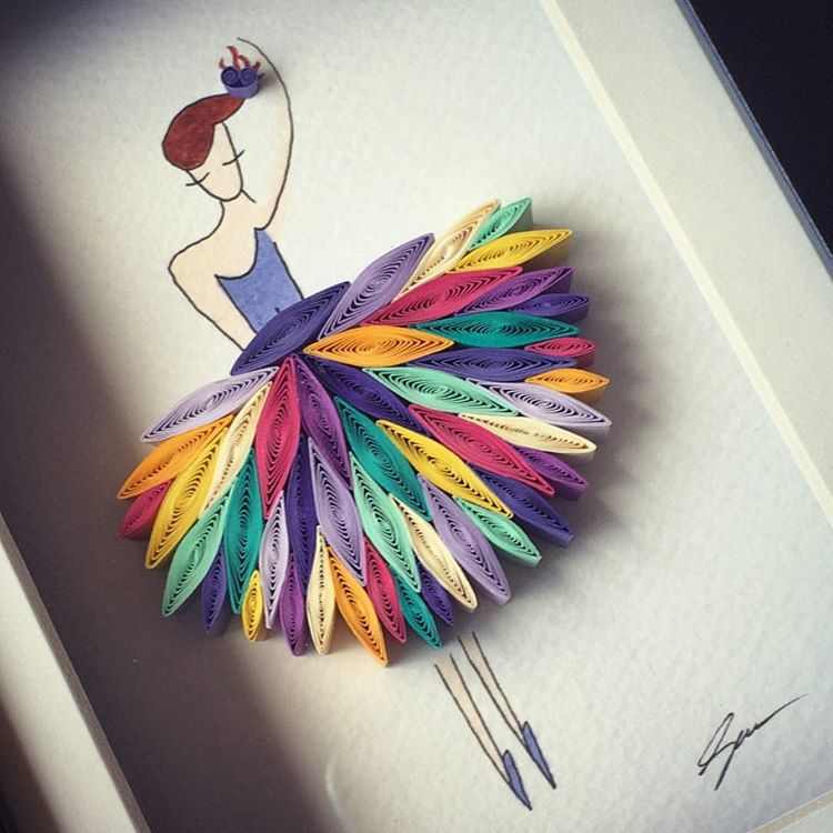 girl quilling art by sena runa