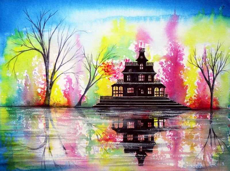 12 house colorful nature paintings by ann marie bone