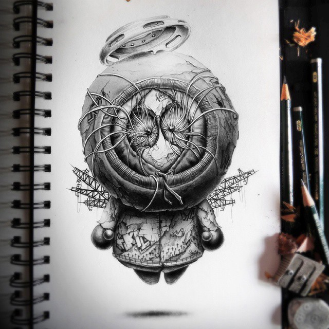 dibujos creative drawings by pez