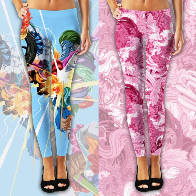 leggings creative art works by james roper