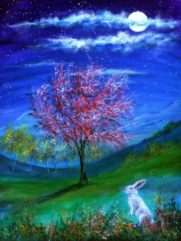 14 lucky rabbit colorful nature paintings by ann marie bone
