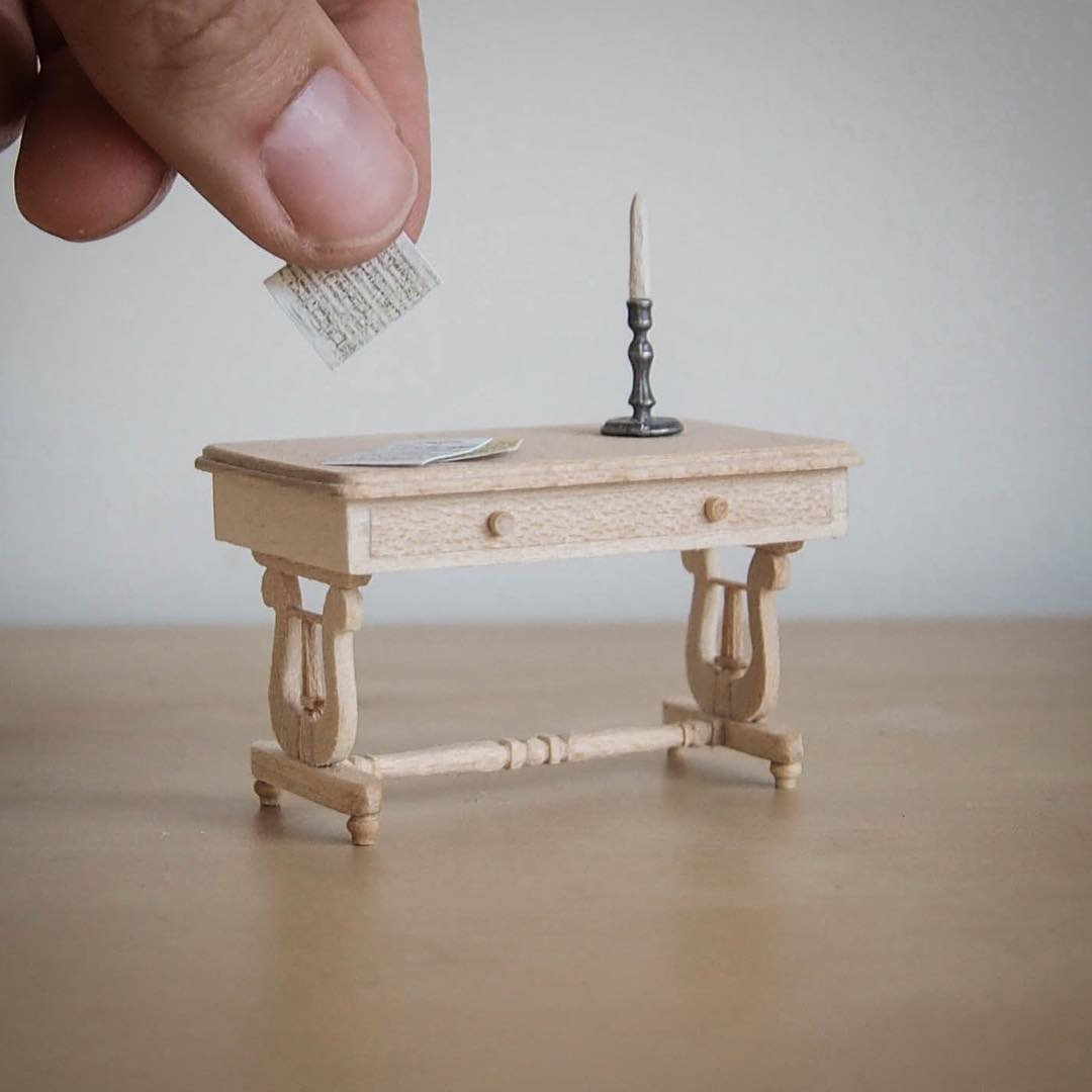 table miniature sculptures by emily boutard