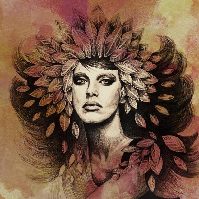 tree lady portrait paintings by eman zogbi