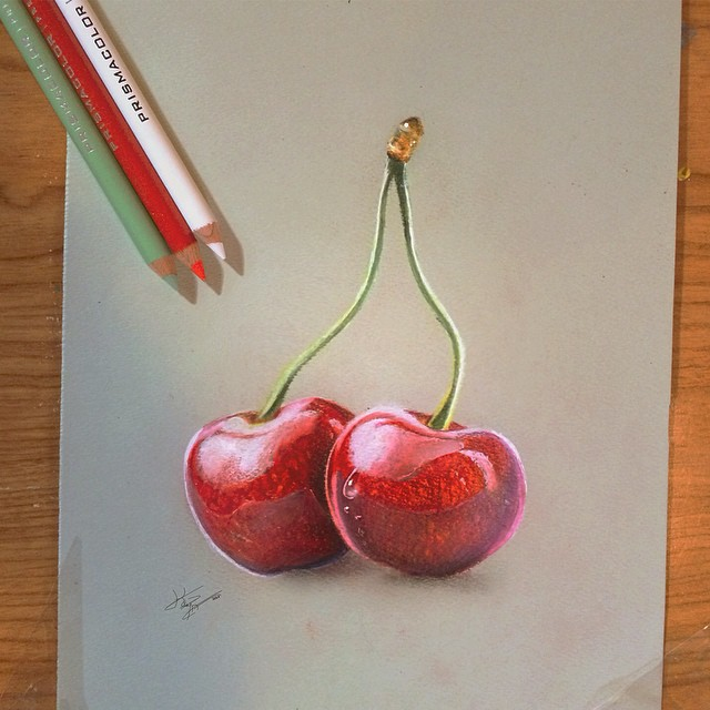 apples color pencil drawings by kayan artcisne
