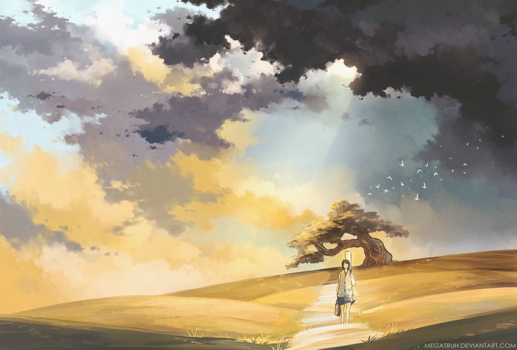 golden fields digital art by niken anindita