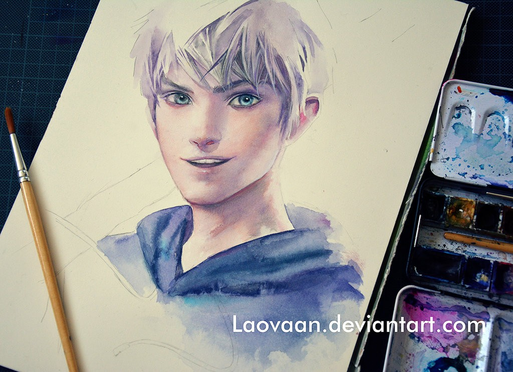 jack frost watercolor paintings by laovaan