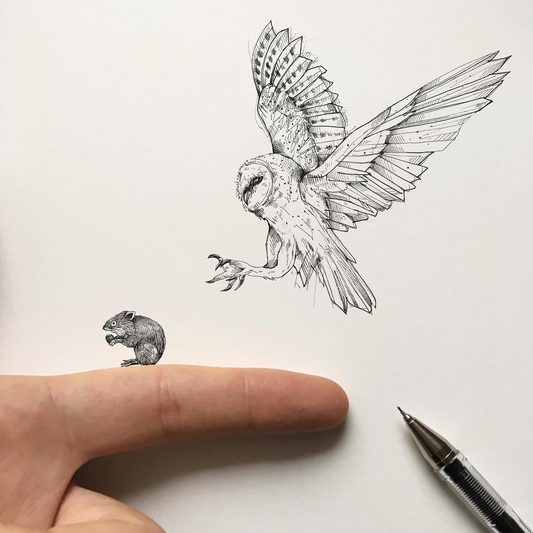 surreal drawing art eagle alfred basha