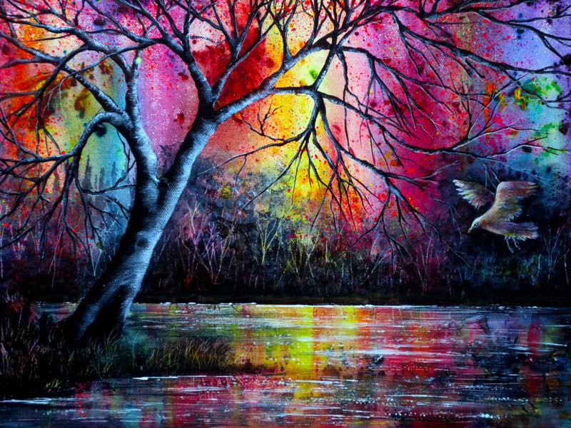 colorful nature paintings by ann marie bone