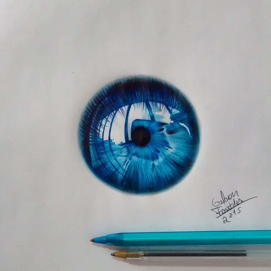 17 eyes drawing by gelson fonteles