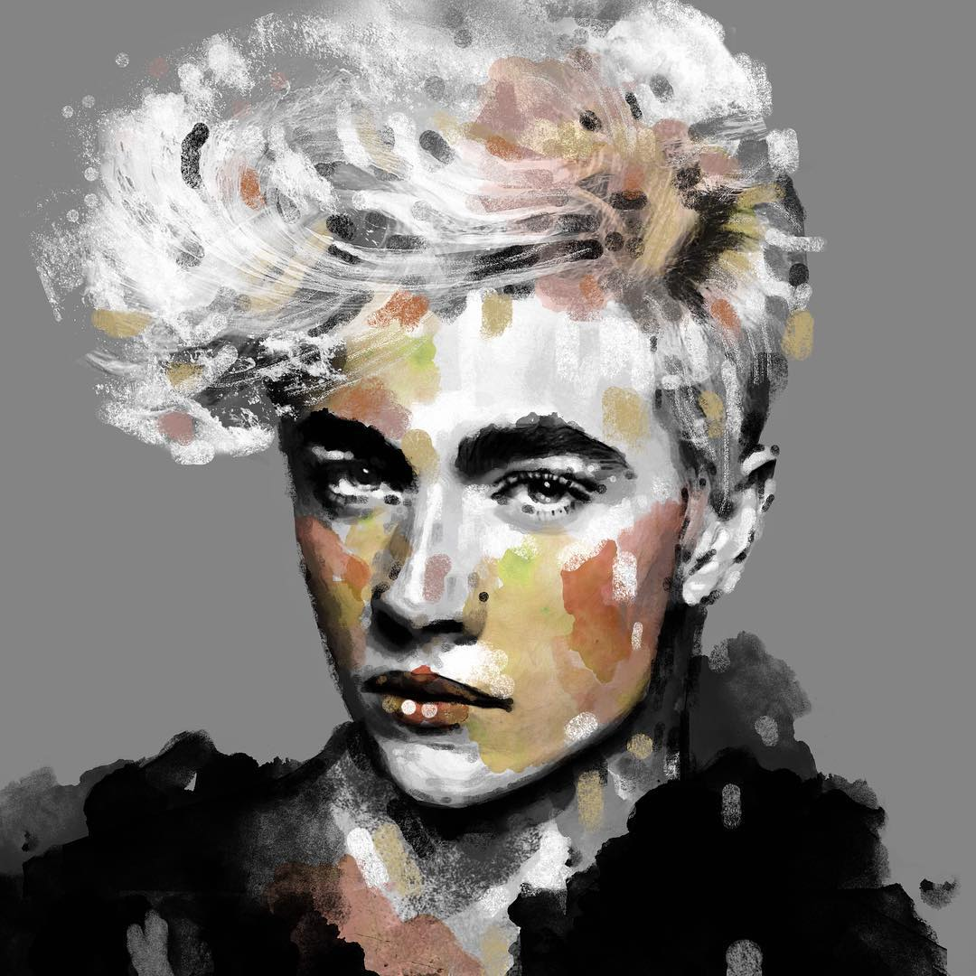 lucky blue smith portrait paintings by eman zogbi