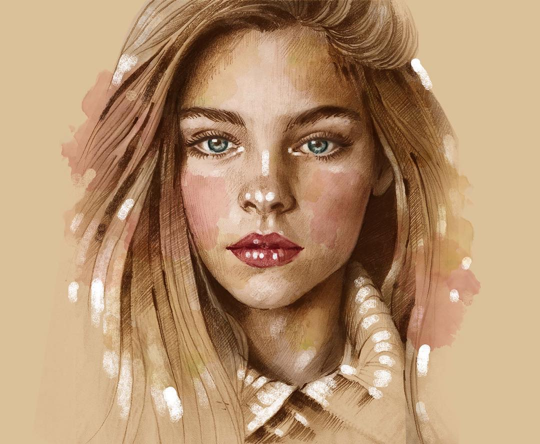 jade weber portrait paintings by eman zogbi