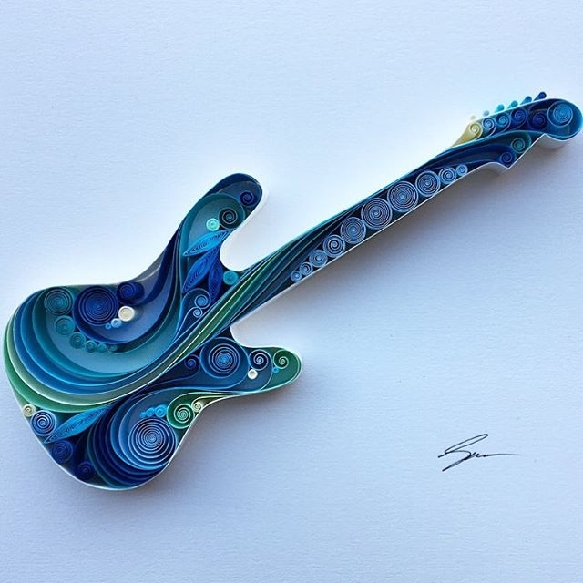 violin quilling art by sena runa