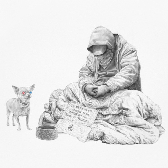 beggar creative art works by james roper