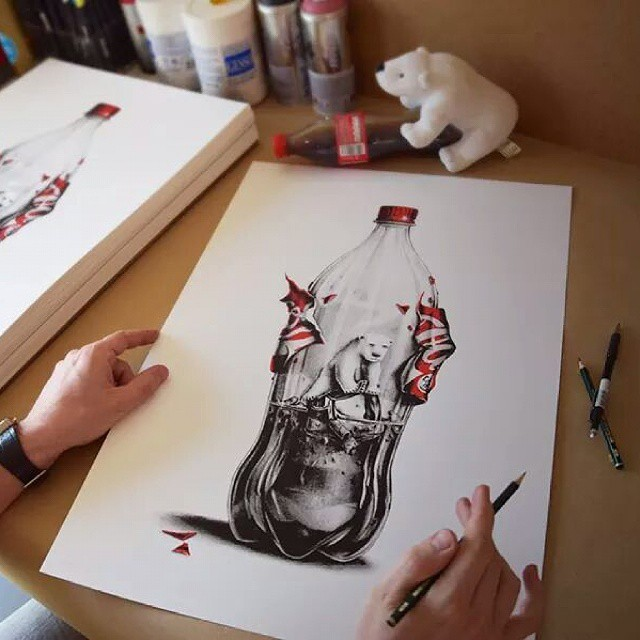 bear creative drawings by pez