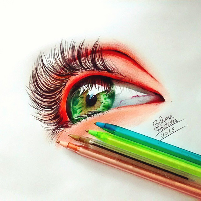 eyes drawing by gelson fonteles