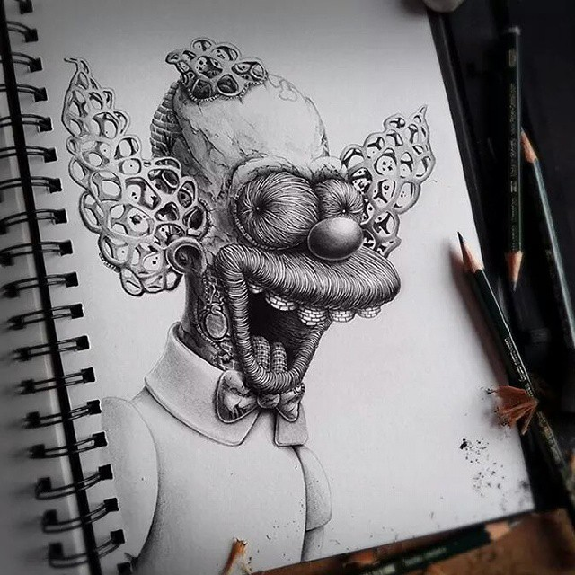 dibujos face creative drawings by pez