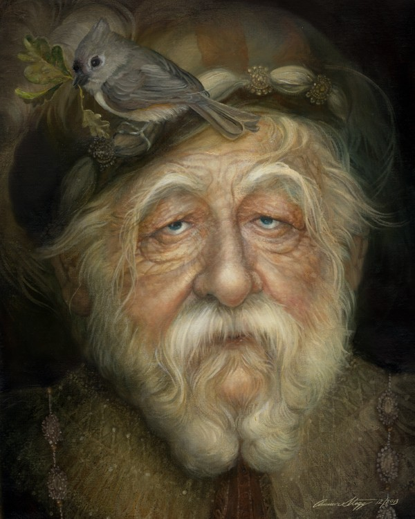 old man surreal paintings by annie stegg