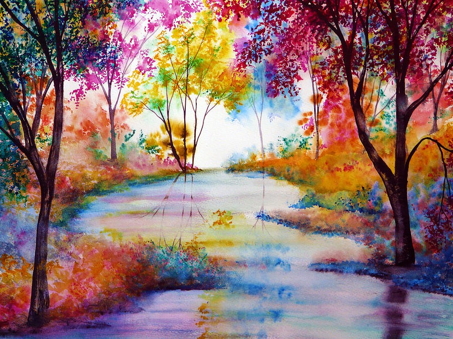 5 river colorful nature paintings by ann marie bone