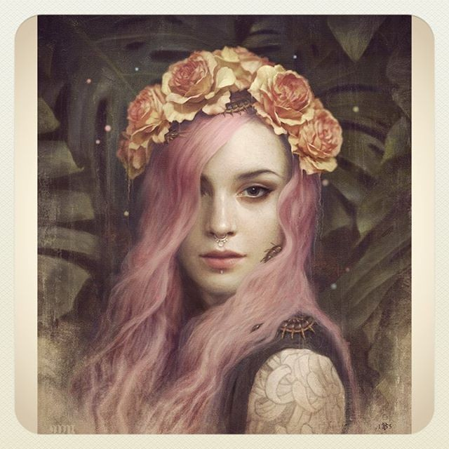 5 woman realistic paintings by tom bagshaw
