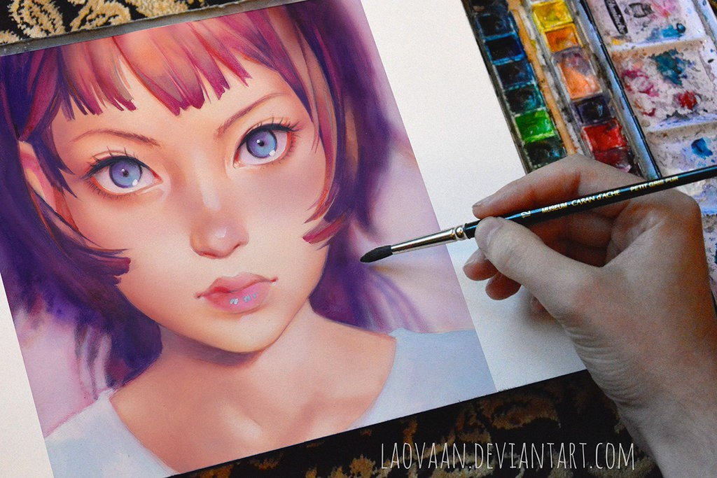 gyoushi watercolor paintings by laovaan6