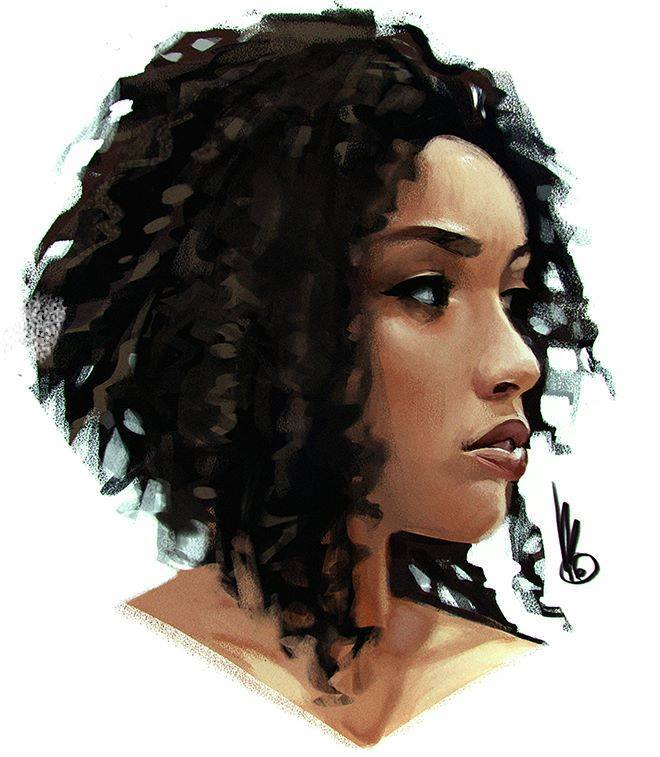 lady digital paintings by mel milton