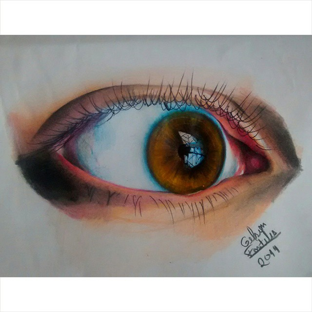 9 eyes drawing by gelson fonteles