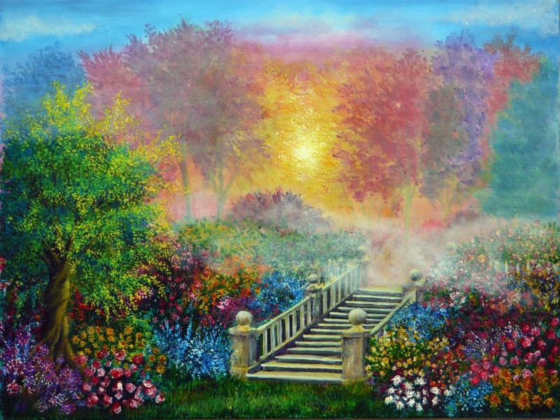 secret garden colorful nature paintings by ann marie bone