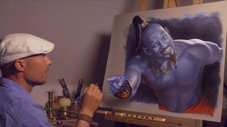 3d paintings genie stefan pabst