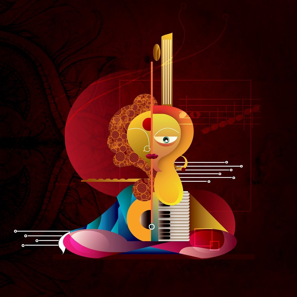 digital illustration music shreyan naik