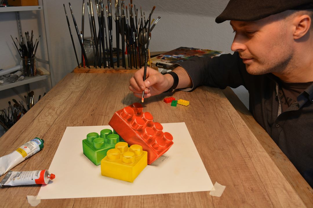 3d paintings lego stefan pabst